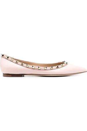 VALENTINO GARAVANI Senhora Sabrinas - Rockstud pointed toe ballerina shoes
