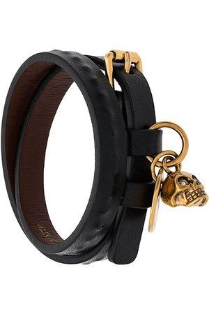 Alexander McQueen Homem Pulseiras - Double wrap skull bracelet