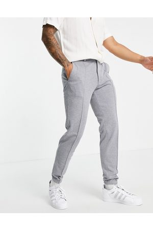 ASOS Slim ankle grazer jersey smart joggers in blue