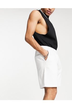 Weekday Standard co-ord Jersey Shorts in White