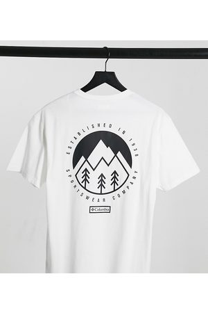Columbia Cades Cove Outdoor Park t-shirt in white Exclusive at ASOS