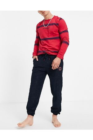 Tommy Hilfiger Lounge jogger towelling with small tennis logo in navy