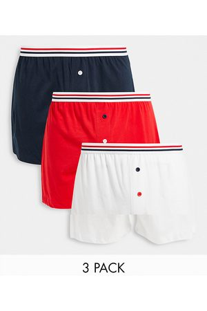 ASOS DESIGN 3 pack boxers with contrast stripe waistbands-Multi