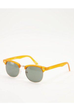 ASOS Retro sunglasses with orange detail and smoke lens