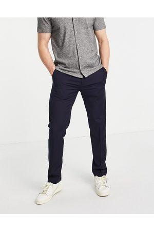 River Island Slim smart trousers in navy-Grey