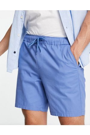 ASOS Skinny chino shorts with elasticated waist in light blue