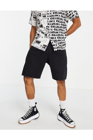 jack & jones Intelligence Tony loose fit shorts in black