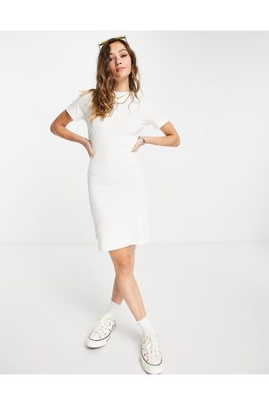 Noisy May Fitted mini t-shirt dress in white