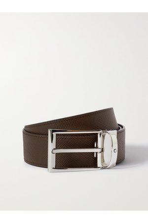 MONTBLANC Homem Cintos - 3.5cm Reversible Textured-Leather Belt