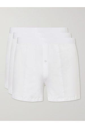 CDLP Three-Pack Slim-Fit Stretch-Lyocell Boxer Shorts
