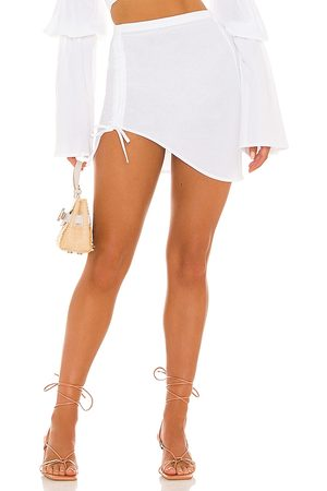 Bananhot X REVOLVE Mini Ruched Skirt in - . Size L (also in S, XS, M).