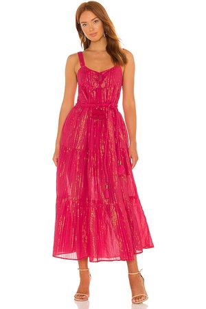 Karina Grimaldi Belle Maxi Dress in - Fuchsia. Size L (also in XS, S, M).
