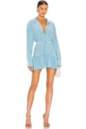 Norma Kamali Oversized Boyfriend Shirt Dress in - Baby Blue. Size M (also in S, L).