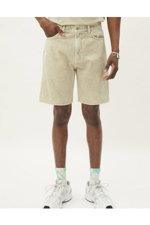 Weekday Space washed cord shorts in light beige-Neutral