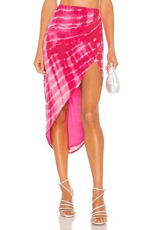 h:ours Cavo Midi Skirt in - Fuchsia. Size L (also in XXS, XS, S, M).
