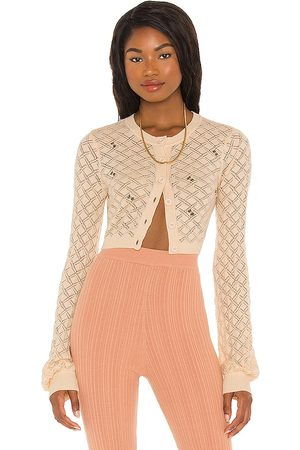 LPA Daphne Embroidered Cardigan in - Ivory. Size L (also in XS, S, M).