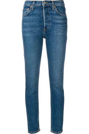 RE/DONE Senhora Skinny - High Rise Ankle Crop jeans