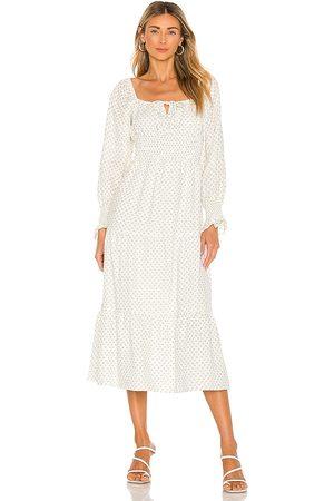 FAITHFULL THE BRAND Senhora Vestidos Midi - Dariya Midi Dress in - White. Size L (also in XS, S, M, XL).