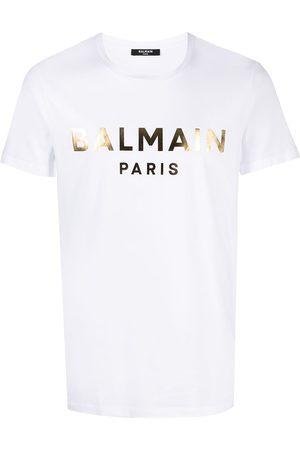 Balmain Gold foil logo short sleeve T-shirt
