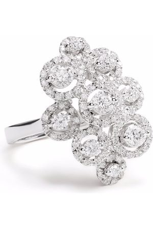 LEO PIZZO Senhora Anéis - 18kt white gold diamond Crops ring
