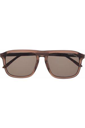 Alexander McQueen Skull-embellished rectangle-frame sunglasses