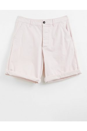 ASOS Relaxed skater chino shorts in light pink