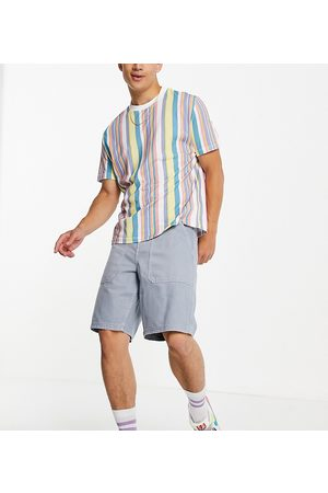 New Look Loose fit twill shorts in blue
