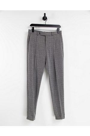 ASOS DESIGN Skinny soft tailored smart jogger in grey textured fabric