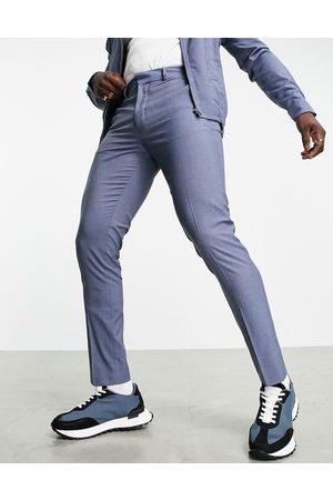 ASOS DESIGN Slim smart trousers co-ord in denim blue