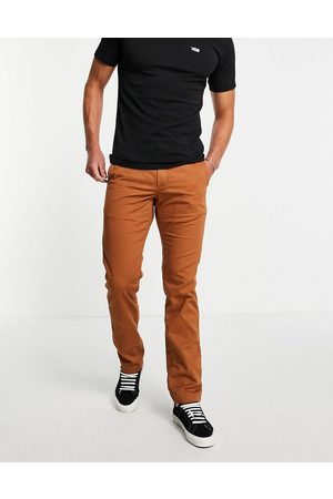 Vans Authentic chino stretch trousers in argan oil-Yellow