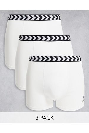 Hummel Classic 3-pack boxer shorts in white