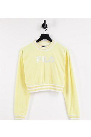 Fila Senhora Camisolas com capuz - Towelling cropped sweatshirt in yellow