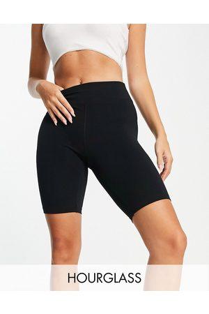 ASOS Senhora Leggings & Treggings - Hourglass icon booty legging short in cotton touch-Black