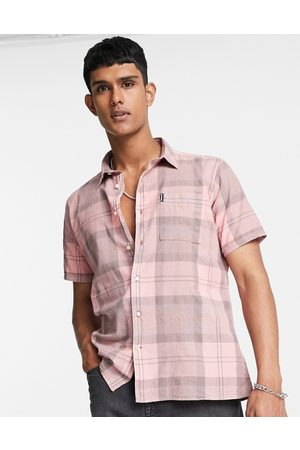 Barbour Homem Manga curta - Tartan short sleeve shirt in light pink