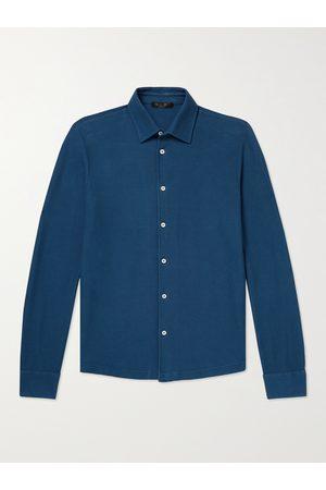 Loro Piana Homem Casual - Cotton-Piqué Shirt