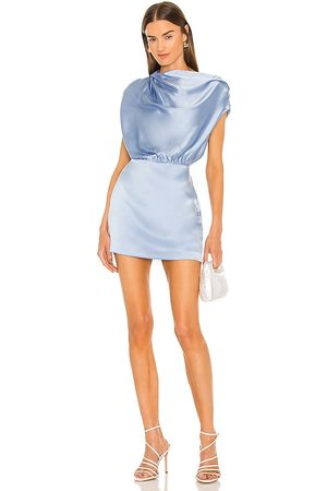 The Sei X REVOLVE Asymmetrical Draped Mini Dress in - Baby Blue. Size 0 (also in 2, 4, 6, 8, 10).