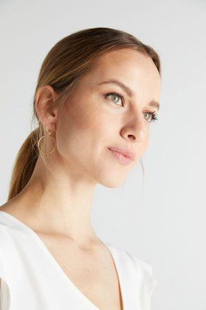 Agatha Brincos compridos donna - cristal - ouro