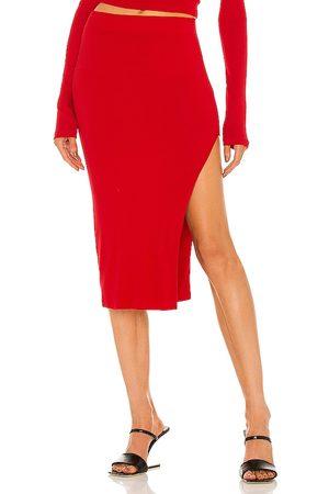 Cotton Citizen X REVOLVE Melbourne Midi Skirt in - Red. Size L (also in XS, S, M).