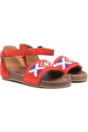 Pèpè Beaded leather sandals