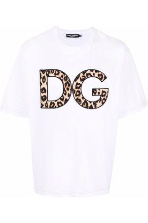 Dolce & Gabbana DG leopard-print patch T-shirt