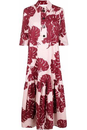 La DoubleJ Artemis abstract-print shirt dress