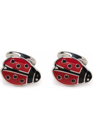 Etro Homem Botões de Punho - Brass ladybird cufflinks