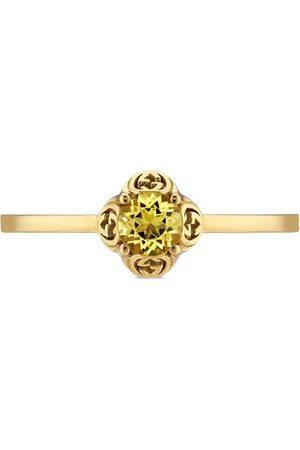Gucci 18kt yellow Interlocking G beryl ring
