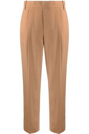 Vince Pleat-detail cropped tailored trousers