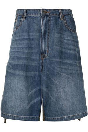 FIVE CM Two-tone denim shorts