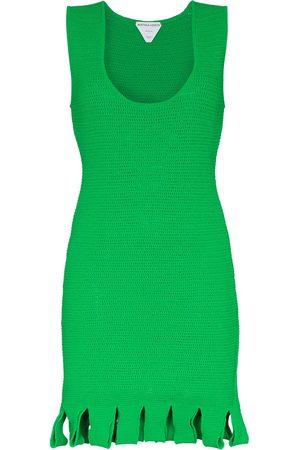Bottega Veneta Senhora Vestidos de Festa - Open-knit fringed-hem dress