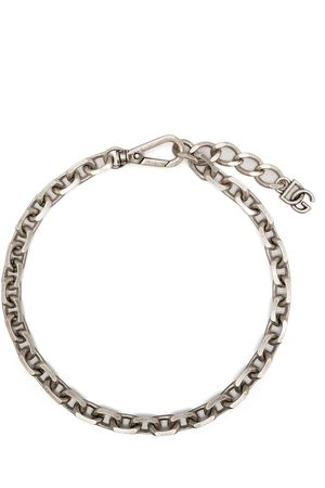 Dolce & Gabbana Homem Colares - Chain-link logo-plaque necklace