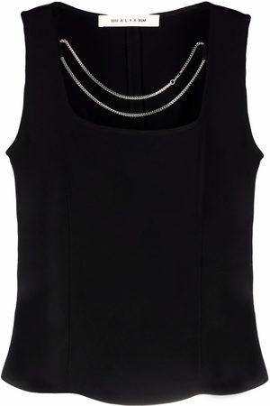 1017 ALYX 9SM Senhora Blusas - Chain-detail sleeveless blouse