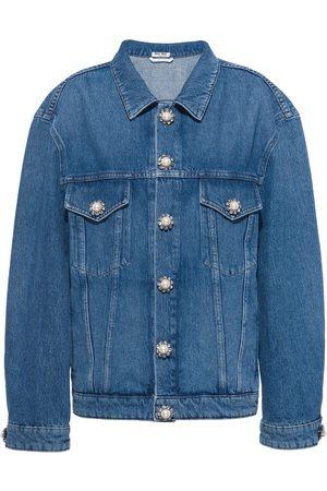 Miu Miu Embellished-button denim jacket