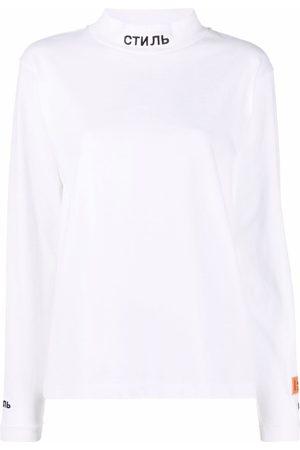 Heron Preston СТИЛЬ embroidery stand-up neck sweatshirt